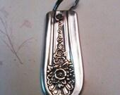 Silverware Recycled Knife Handle Key Ring Jubilee Pattern Repurposed Gift Idea