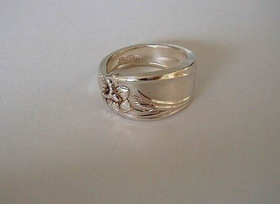 Spoon Ring Silverware Ring Spoon Jewelry Recycled Daffodil  Made to Order in Your Size