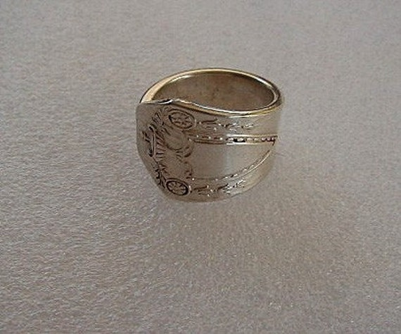 Silver Spoon Ring Recycled Silverware Jewelry Heraldic Made to Order