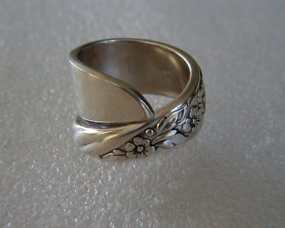 Spoon Ring Silverware Ring Recycled Spoon Jewelry  Flowers Made to Order