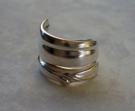Spoon Ring Silverware Jewelry Recycled Radiance Sidewinder Made to Order