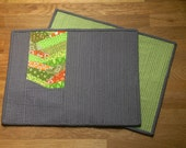 Green and Grey Placemat set of 2