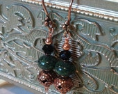 Copper Malachite earrings