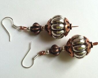 Silver Copper earrings 2