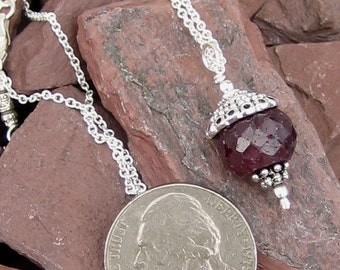 July Birthstone - Ruby necklace