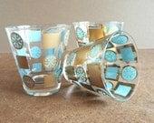 1950s Bar Drink Glasses, Set of Three