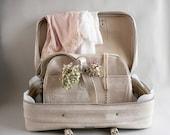 White Samsonite Overnight Suitcase Set,  Samsonite  Messenger Bag and Soft side Suitcase Set