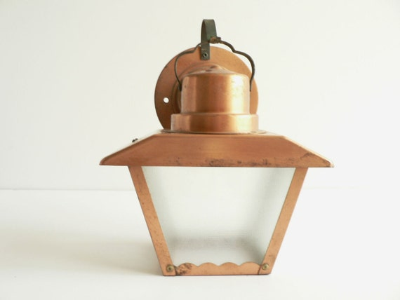 Copper Metal Craftsman Style Outdoor Light Electric by