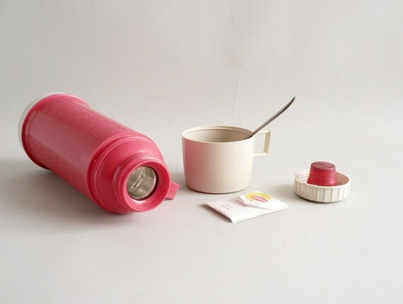 Pink Thermos, Vacuum Bottle by Thermos