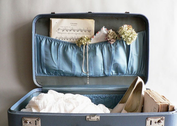 Baby Blue Suitcase, Hard Side Blue Luggage