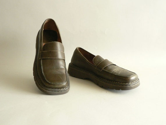 Women's Loafers,  Olive Bronze , Size 40 / 81/2  by Born