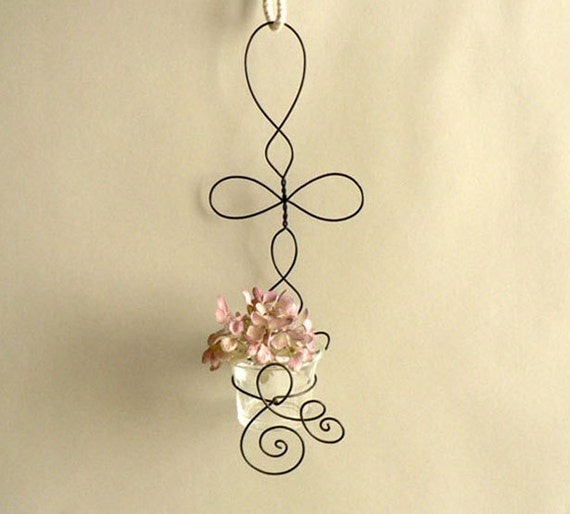 Wire Wall Planter, Home Decor Hanging Wall Sconce
