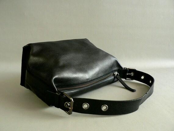 Black Leather  Purse by Banana Republic, Women's Small Handbag