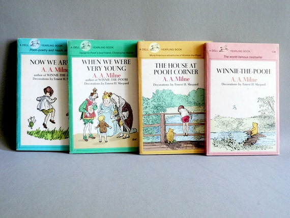 Vintage Winnie the Pooh Books Set / A. A. Milne Children's Book Set