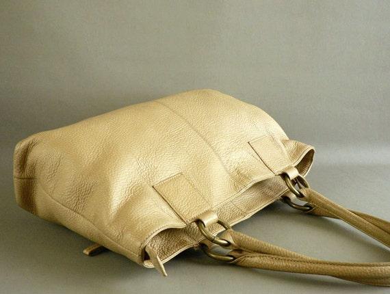 Tan Leather Purse, Women's Satchel Handbag