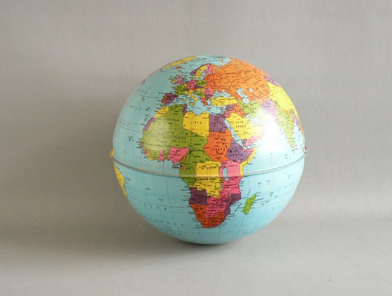 Metal World Globe Sphere, Without Stand