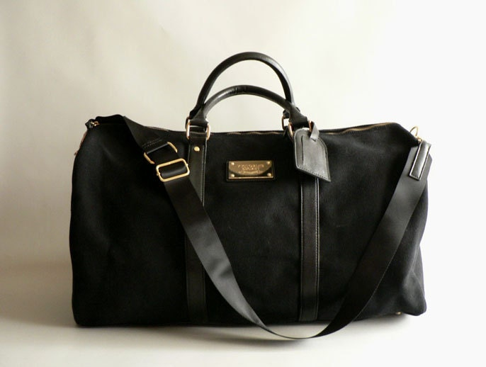 Women S Black Canvas Duffel Bag Large Overnight Tote