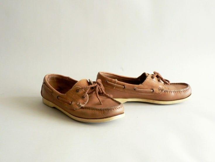 Women's Size 7M Deck Shoes Camel Tan Boat Shoes