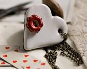 New Alice in wonderland heart necklace