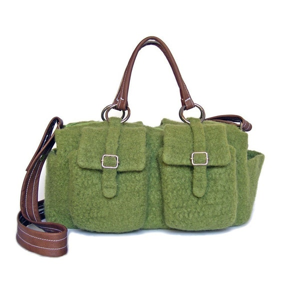 Felted Crochet Bag : All Bags & Purses