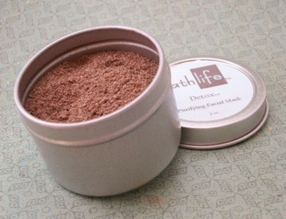 Detox (tm) Purifying Facial Mask with Dead Sea Clay and Cocoa Powder. For All Skin Types.
