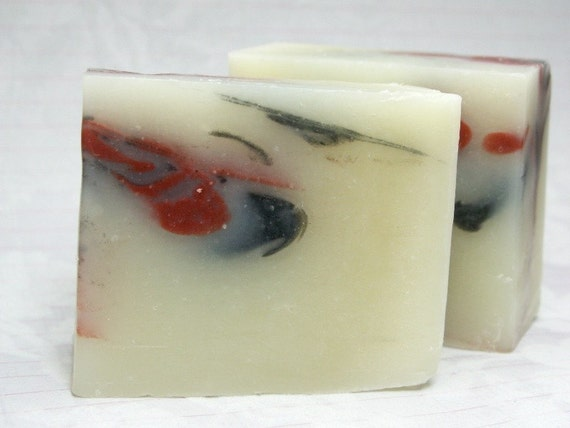 Black n' Rose Handmade Bath Soap with Shea Butter and Sweet Almond Oil. Small Bar.