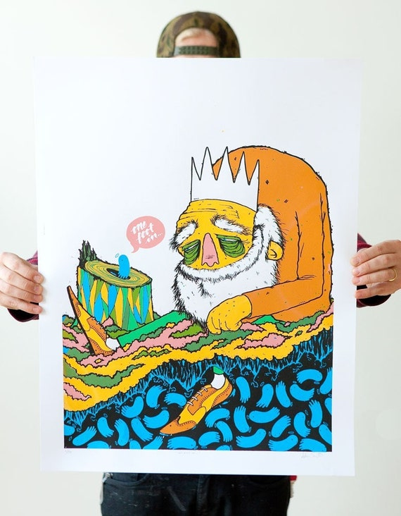 One Foot In... limited edition screenprint