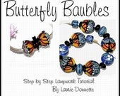 Butterfly Baubles Lampwork Bead Tutorial By Laurie D.