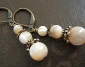 Earrings - Creamy Mother of Pearl