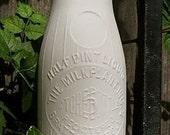 Bottle Vase, Brattleboro, Vermont Milk Bottle