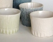 Knitware Demitasse Cups  (or votives)   set of two