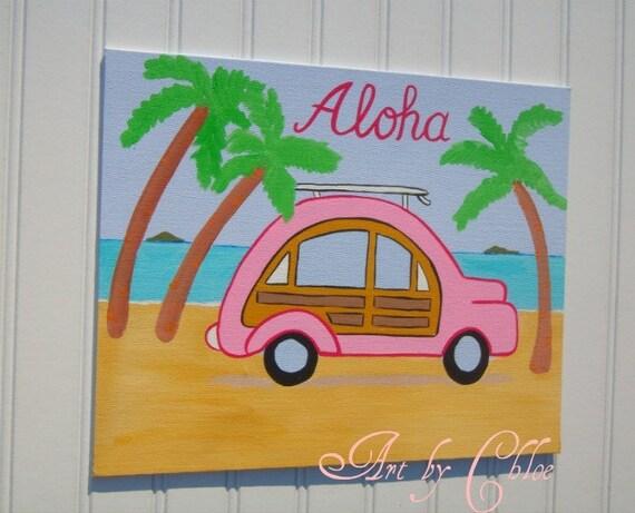 Items similar to beach cottage buggy surf nursery art baby for Surf nursery ideas
