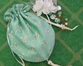 Bride's Bag drawstring wedding clutch formal Purse Mother of Bride
