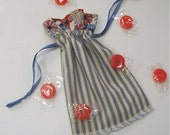 Fabric gift bag ticking drawstring pouch gift wrap