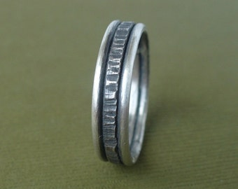 6 mm Rustic Sterling Band - Wedding Ring