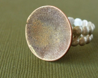 Soft Sand...  End of a peaceful summer ring - ooak