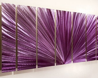 Purple Abstract Metal Wall Art - Modern Metal Painting - Accent - Wall Decor - Painted Artwork - Rhapsody by Jon Allen