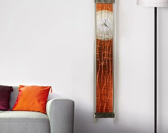 Wall Clock Painted Metal Abstract Art Champagne Time  / by Jon Allen