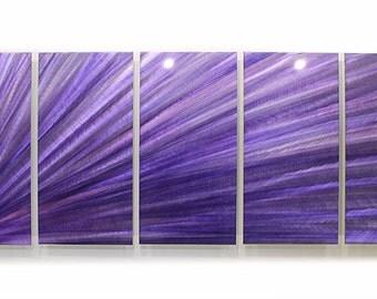Modern Art Painted Purple Metal Abstract Art Wall Sculpture Extra Large Lavender Triangulate XL / by Jon Allen