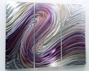 Purple Abstract Metal Painting - Modern Metal Wall Art - Home Decor - Wall Accent - Living Room Art - Flowing Dreams by Jon Allen