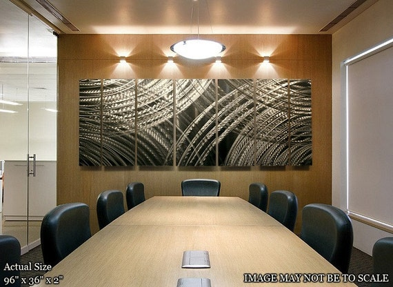 Large Silver Wall Decor: Extra Large Abstract Silver Modern Metal Wall By