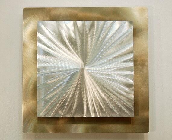 Gold Modern Metal Wall Sculpture Contemporary Metal Wall Art