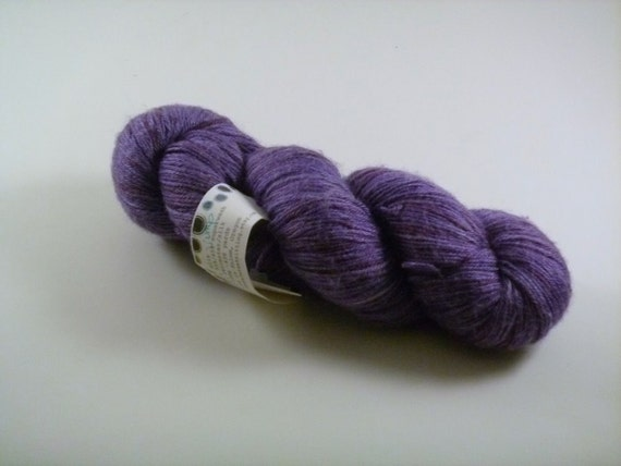 jump - oracle bfl (purple blue face leicester and silk yarn)