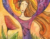 Morning Meditation - ACEO Print
