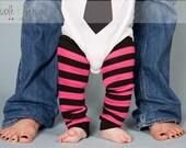 Pink leg warmers, baby leg warmers, girls leggings, toddler legwarmers, wear with cloth diaper, tutu dress, skirt, petti romper, photo prop