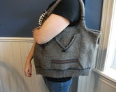 Picture Perfect Recycled Wool Sweater Purse