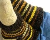 Yellow Stripes - Short Stirrup Legwarmers / Spats