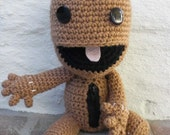 Sackboy Crochet Plush with Working Zipper
