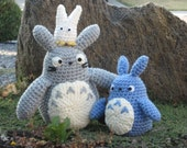 Totoros Collection Set - Gray, Blue, White Totoros