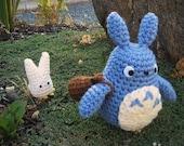 Blue Totoro Doll version